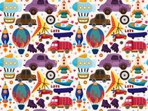 Bezszwowy transportu wzór Zdjęcia Royalty Free