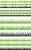 Bezszwowy trawa set Fotografia Stock