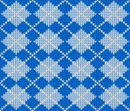 Bezszwowy trykotowy argyle puloweru tło Obrazy Royalty Free