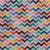 Bezszwowy trykotowy geometryczny multicolor wzór ilustracja wektor