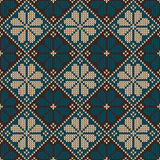 Bezszwowy trykotowy ornamentacyjny wzór Wektorowy Illust Fotografia Stock