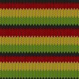 Bezszwowy trykotowy reggae wzór royalty ilustracja