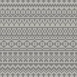 Bezszwowy trykotowy wzór w tradycyjnej Uczciwej wyspie Obrazy Royalty Free