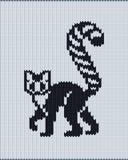 Bezszwowy trykotowy wzór z ogoniastym lemurem ilustracja wektor