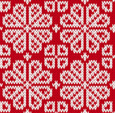 Bezszwowy trykotowy wzór Obraz Stock