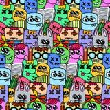 Bezszwowy tupocze z dziwacznymi elementami Obraz Stock