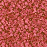 bezszwowy ulistnienia wzoru Akwarela czerwony abstrakt Zdjęcia Royalty Free