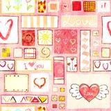 Bezszwowy valentine tło Obrazy Royalty Free