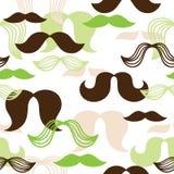 Bezszwowy wąsy wzór Zdjęcia Royalty Free