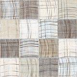 Bezszwowy waciany wzór z grunge paskującymi i w kratkę kwadratowymi elementami Obraz Stock