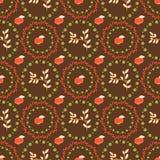 Bezszwowy warzywo wzór z jabłkami dla projekta Zdjęcie Royalty Free