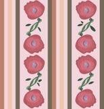 Bezszwowy wektorów lampasów wzór z kwiatami ilustracji