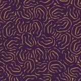 Bezszwowy wektorowy abstrakcjonistyczny organicznie tekstura wzór w purpurach royalty ilustracja