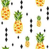 Bezszwowy wektorowy ananasa wzór Fotografia Stock