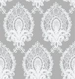 Bezszwowy Wektorowy biel koronki wzór Fotografia Royalty Free
