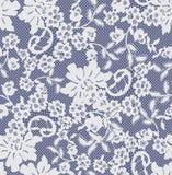 Bezszwowy Wektorowy biel koronki wzór Zdjęcia Royalty Free