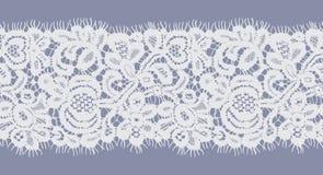 Bezszwowy Wektorowy biel koronki wzór Fotografia Stock