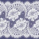 Bezszwowy Wektorowy biel koronki wzór Zdjęcie Stock