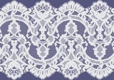 Bezszwowy Wektorowy biel koronki wzór Obrazy Royalty Free