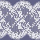 Bezszwowy Wektorowy biel koronki wzór Obrazy Stock