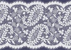 Bezszwowy Wektorowy biel koronki wzór Obraz Royalty Free