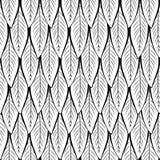 Bezszwowy wektorowy czarny i biały liścia wzór ilustracja wektor