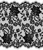 Bezszwowy Wektorowy czerni koronki wzór Fotografia Stock