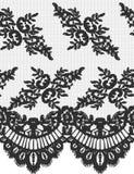 Bezszwowy Wektorowy czerni koronki wzór Fotografia Royalty Free