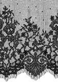 Bezszwowy Wektorowy czerni koronki wzór Zdjęcie Royalty Free