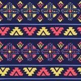 Bezszwowy wektorowy geometryczny plemienny kolorowy deseniowy tło Ilustracja Wektor