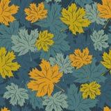 Bezszwowy wektorowy jesień liść tło Zdjęcie Stock