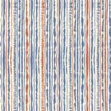 Bezszwowy wektorowy shibori barwidła wzór błękitni i czerwoni colours na bielu Ręka obrazu tkaniny - guzowaty batik ilustracji