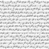 Bezszwowy wektorowy tło z muzycznymi notatkami Fotografia Stock