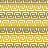 Bezszwowy wektorowy tło z antykwarskim etnicznym Greckim meanderem ilustracja wektor