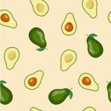 Bezszwowy wektorowy tło z avocado Zdjęcia Stock