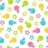 Bezszwowy wektorowy tapetowy koloru wzór dla dzieciaków Obrazy Stock