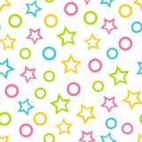Bezszwowy wektorowy tapetowy koloru wzór dla dzieciaków Fotografia Royalty Free
