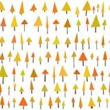 Bezszwowy Wektorowy trójbok sosny wzór Obraz Royalty Free