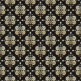 Bezszwowy wektorowy złota i czerni wzór obraz royalty free
