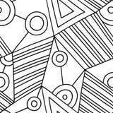 Bezszwowy wektoru wzór, czarny i biały prążkowany asymetryczny geometryczny tło z rhombus, trójboki Druk dla wystroju, tapeta ilustracji