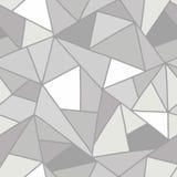 Bezszwowy wektoru wzór, prążkowany asymetryczny geometryczny tło z rhombus, trójboki Druk dla wystroju, tapeta, pakuje, wra royalty ilustracja