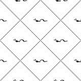 Bezszwowy wektoru wzór, tło z ślicznymi gąsienicami na białym tle Zdjęcia Royalty Free