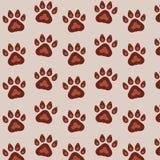 Bezszwowy wektoru wzór z śladami psy na tle Śliczny niekończący się szablon dla 2018 rok Ilustracji