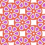 Bezszwowy wektoru wzór z abstrakcjonistycznymi cytrus owoc plasterkami Zdjęcia Royalty Free