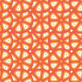 Bezszwowy wektoru wzór z abstrakcjonistycznymi cytrusa pomidoru lub owoc cięciami Zdjęcia Stock