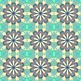 Bezszwowy wektoru wzór z abstrakcjonistycznymi kwiatami royalty ilustracja
