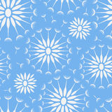 Bezszwowy wektoru wzór z dandelions i ziarnami Wektorowy tło Zdjęcie Royalty Free