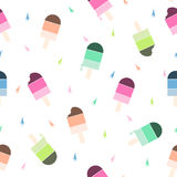 Bezszwowy wektoru wzór z kolorowym lody Obrazy Stock