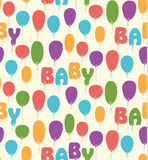 Bezszwowy wektoru wzór z kolorowymi balonami Zdjęcia Royalty Free