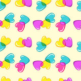 Bezszwowy wektoru wzór z kolorowymi cukierków sercami Obrazy Stock